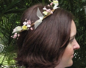 Floral Crown for Prom, Wedding, Renaissance Festival or Everyday Wear