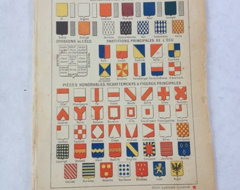 Page of French Shields from old book, circa 1937
