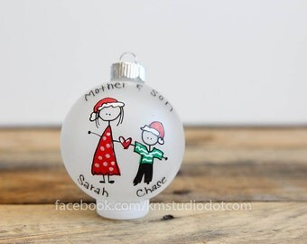Mother/Father and Son/Daughter Christmas Ornament - Personalized for Free
