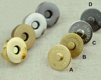 18mm Magnetic Snaps Button,  Metal Plated Magnetic Snaps Closures Button 10 sets (MB044-18)