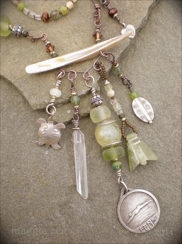 Amulet Jewelry Pendants Sothon: SALE River Song Shaman Amulet Necklace