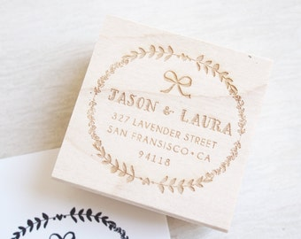 Custom Stamp Address - personalized wedding gift calligraphy return address stamp