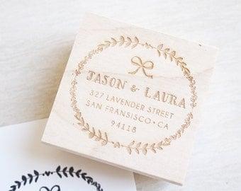 Custom Stamp Address - personalized wedding gift calligraphy return address stamp