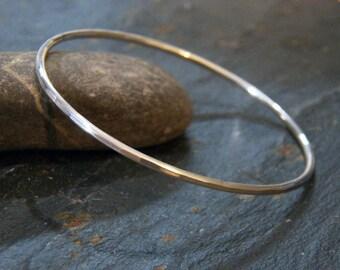 Classic Sterling Silver Bangle - 12 gauge - Stacking Bangle Bracelet - Sleek Elegant Design