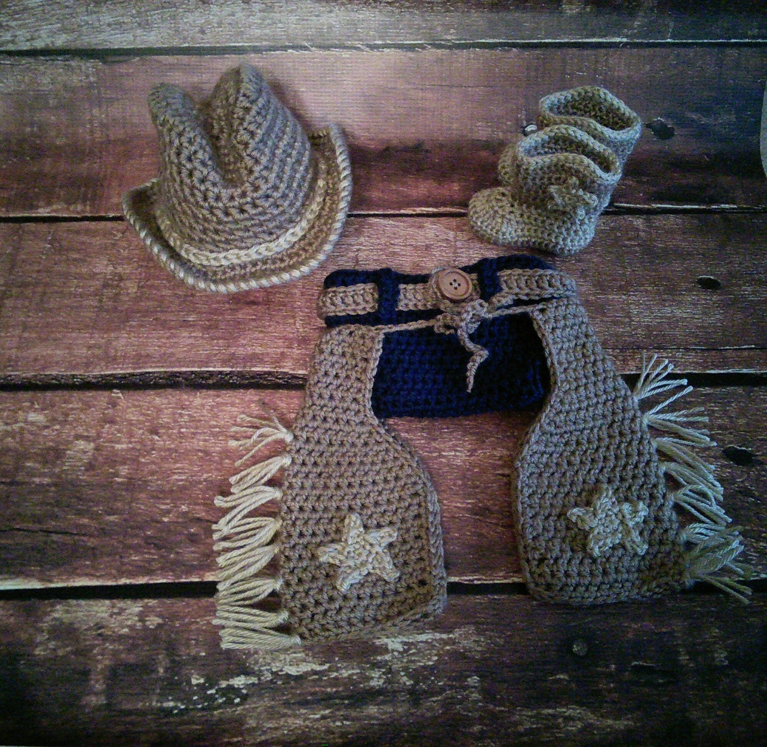 Crochet Baby Cowboy Chaps Pattern : Crochet Cowboy Chaps Diaper Cover Hat and Boot by ...