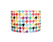 Modern Lamp Shade - Happy Houndstooth - Choose Your Size