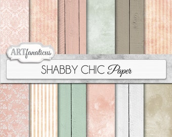 "Wedding digital papers ""SHABBY CHIC WEDDING"" rustic, pink, white, mint green, grunge, lace, wood for photographers scrapbooking and weddings"