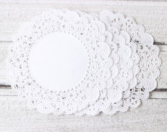 Doilies, Bulk 100 Doilies, Normandy Lace Paper Doily, 4 Inch Doily, White Paper Doilies, Gift Packaging