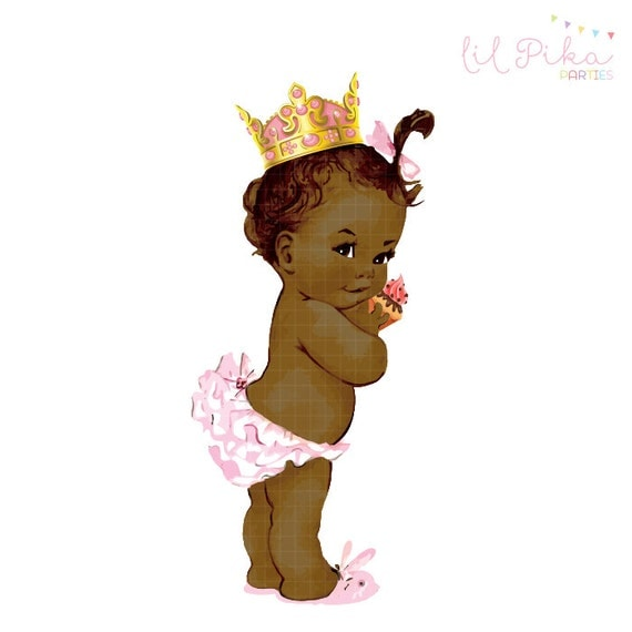 Vintage Baby Princess Birthday Clipart