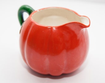 Fat Little Japanese Maruhon Ware Tomato Creamer