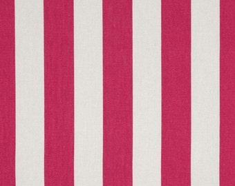 1/2 or 1 yard fabric -Home Decor Stripe Fabric -Premier Prints Canopy Candy Stripe Pink White