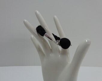 Black Braided Bracelet, Fiber Bracelet, Textile Bracelet, Yarn Bracelet, Black Modern Braided Bracelet, Black Minimalist Bracelet