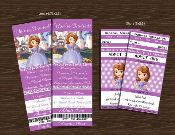 Sofia Birthday Invitations for amazing invitations template