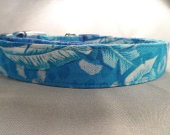 Blue Hawaiian Dog Collar