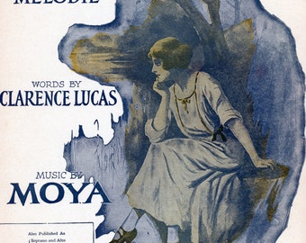 """1914 Sheet Music, """"The Song Of Songs"""" By Moya"""