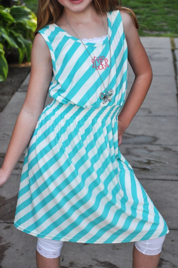 Summer Striped Dress for Girls and Teens with FREE Monogramming!
