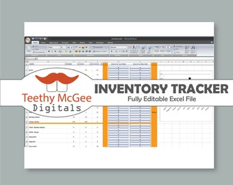 Inventory Tracker - Instant Download Editable Business Tool