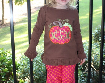 Girls Ruffled Pants Outfit