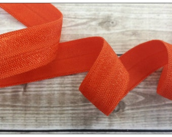 5/8 ORANGE Fold Over Elastic 5 or 10 YARDS