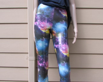 CLEARANCE - Galaxy Shiny Spandex Leggings