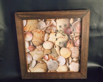 Seashells Ocean Wall decor Clock