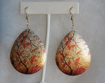 Fall  Metal Earings with Gold Filled Ear Wires
