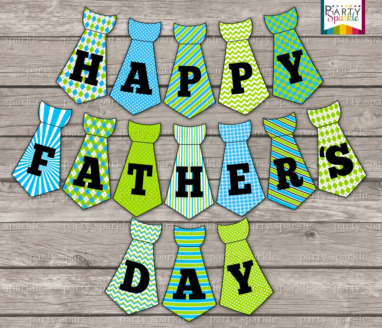 Gutsy image with happy father's day banner printable