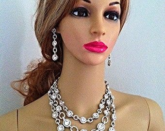 Swarovski Crystal Rhinestone Bridal Jewelry Set