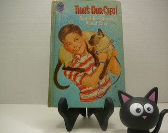That's Our Cleo, and other stories about cats, 1966, A Whitman Tween age book, vintage kids book, vintage cat book
