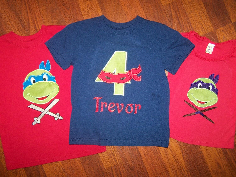 Ninja Turtle Birthday Shirts By Sweetlittlefancys On Etsy