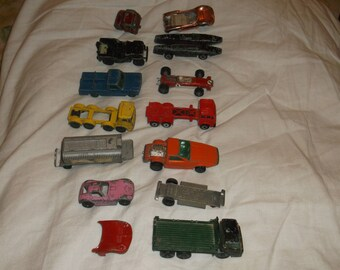 Lot of 11 Vintage Matchbook, Aurora Cars and Trucks  OLD !!! Holland & England international shipping additional.