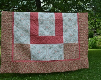 Flowered Embroidered Quilt