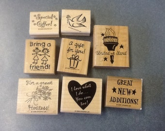 8 Stampin Up Hostess Scrapbooking Stamps S01