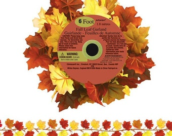 6 Feet Mini Leaves Autumn Garland Maple Leaf Design