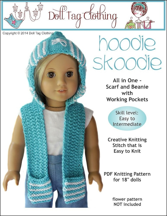 Knitting Pattern For Dolls Hoodie : Pixie Faire Doll Tag Clothing Hoodie Skoodie Knitting Doll
