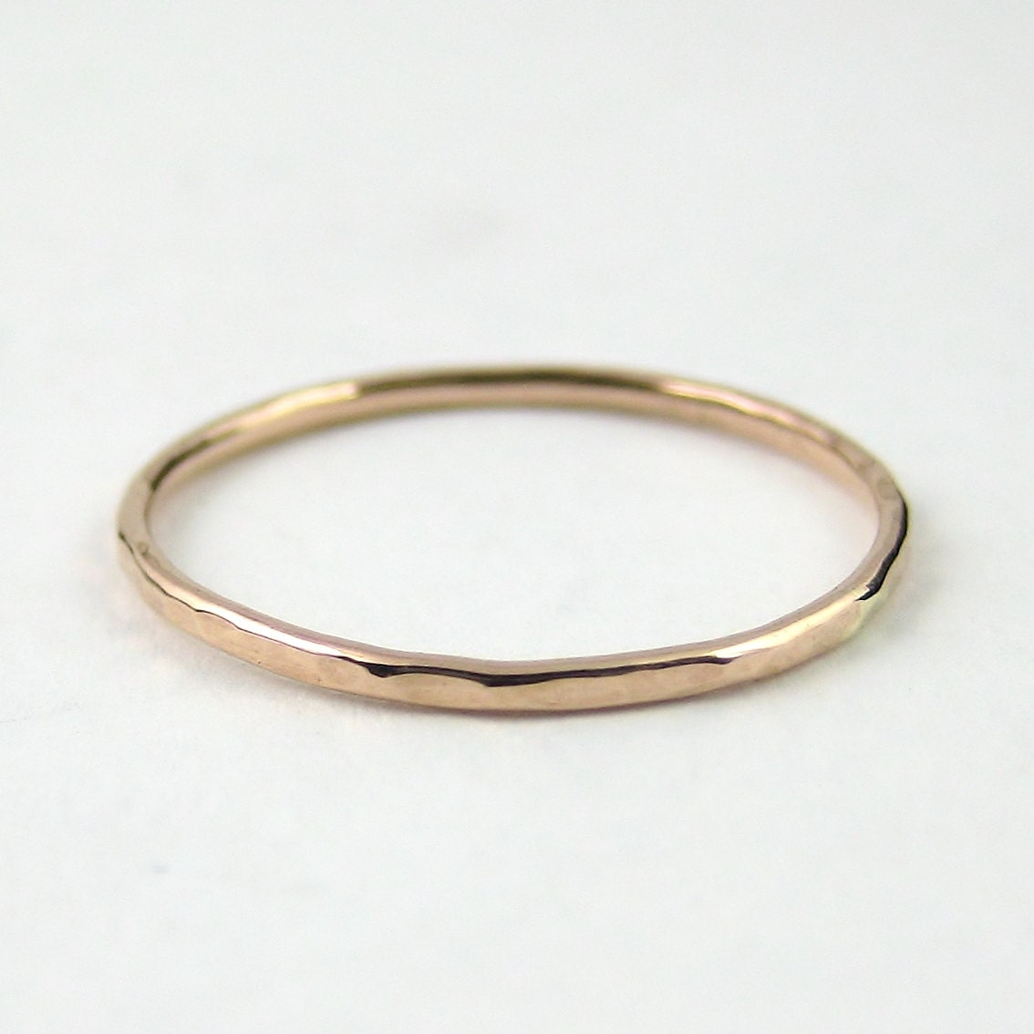 Thin Rose Gold Ring Thin Wedding Band Skinny Gold Stacking