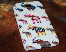 Cute Elephant Case for Galaxy S4 Samsung S5 Back Cover Elephants Tribal Print Aztec Indian African Fun Print Samsungs4 Samsungs5 Cases c58