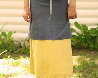 Arrowweed maxi layering skirt