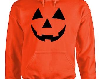 JACK O LANTERN Hoodie halloween scary pumpkin sweatshirt sweat shirt Youth or adult your choice