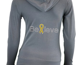 Custom Childhood Cancer Awareness Shirt . Fight Childhood Cancer . Childhood Cancer Awareness Clothes . GOLD Ribbon . Cancer Walk