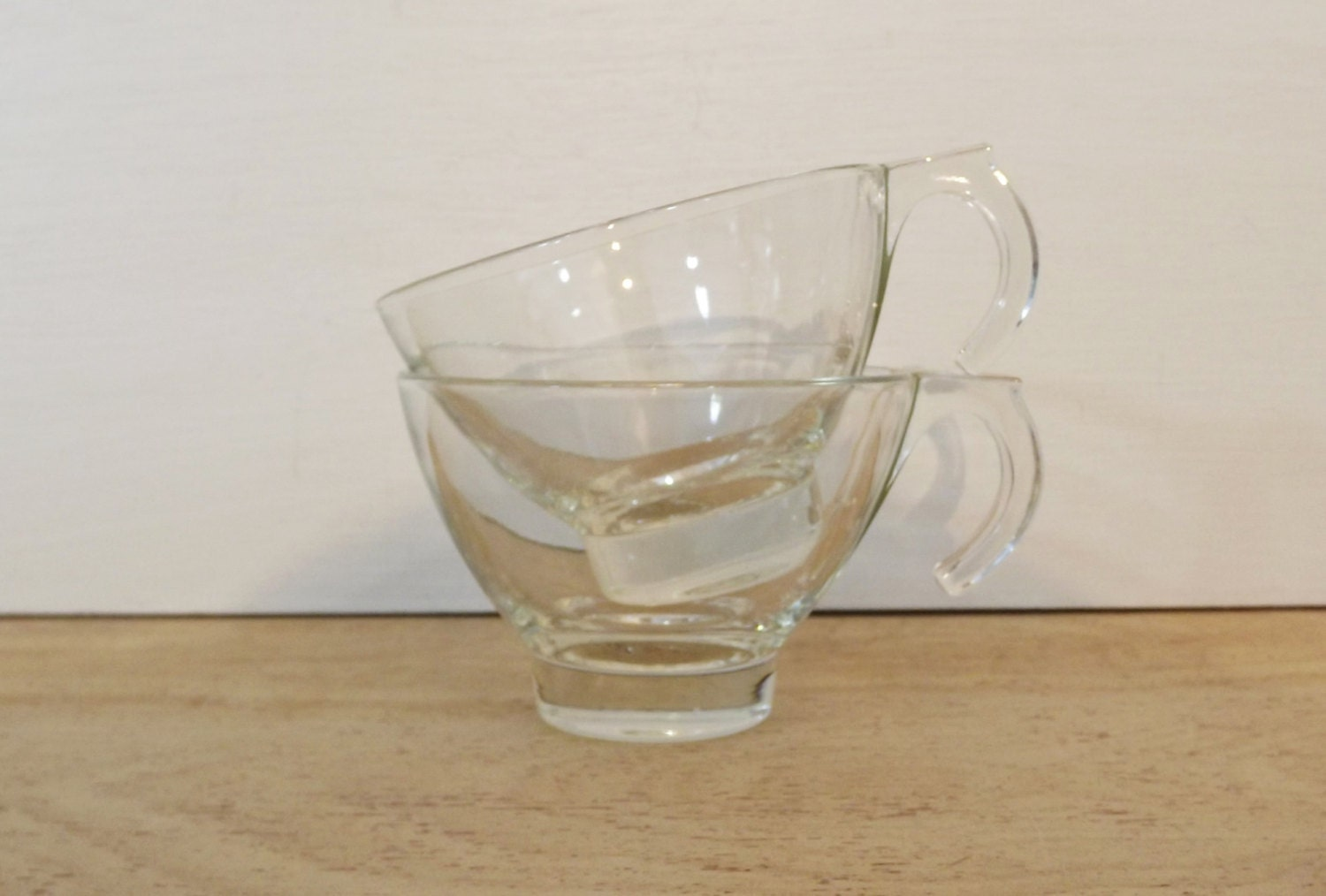 Clear glass coffee mugs or cups unique handle hook for Cool glass coffee mugs