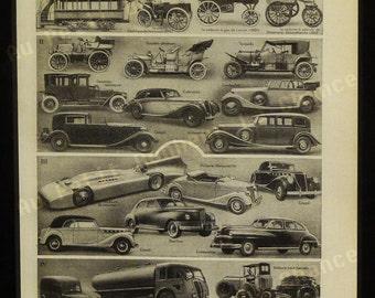 Print - Automobiles - French Illustration - 1949