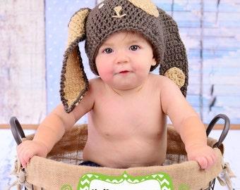 Puppy hat *** Puppy * puppy crochet photography prop hat
