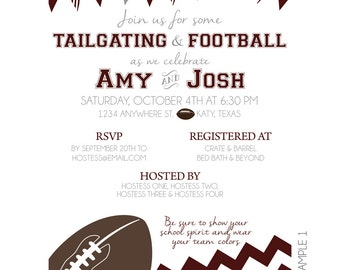 Tailgating and Football Invitation