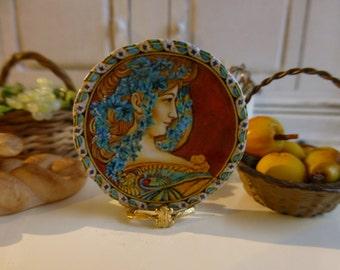 Art Noveau Plate for Dollhouse