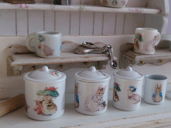 A Kitchen With Vintage Character: Beatrix Potter Characters Metal Kitchen Canisters For