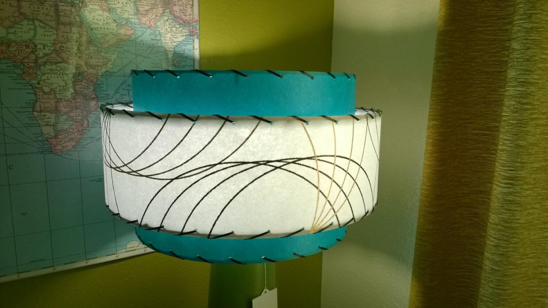 mid century style 3 tier fiberglass lamp shade retro modern. Black Bedroom Furniture Sets. Home Design Ideas