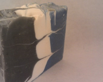 Clean man Cold process soap handmade soap men black blue