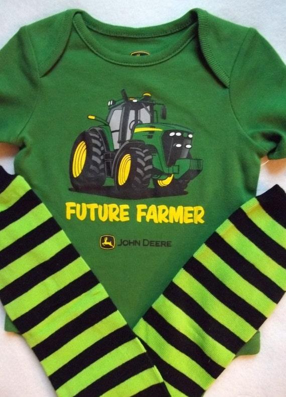 john deere future farmer onesie baby boy shirt little man