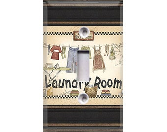 Laundry Room Style 1 Light Switch Cover
